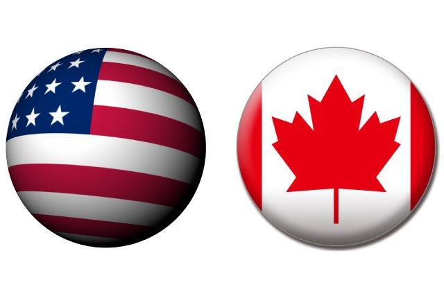 アメリカ人とカナダ人